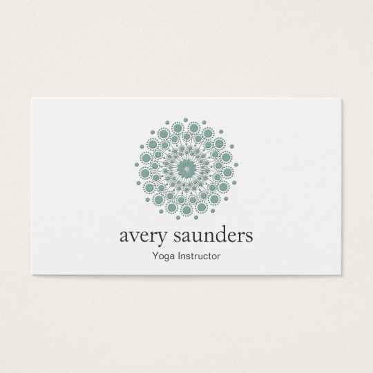 Yoga Instructor and Meditation Coach Logo Business Card