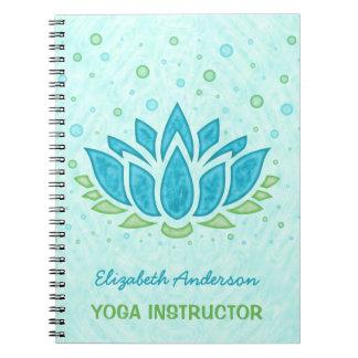 Yoga Instructor   Blue Lotus Flower Zen Meditation Note Books