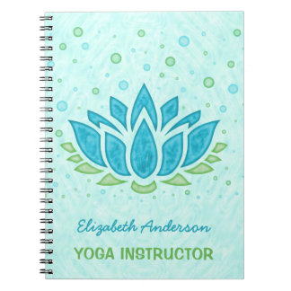 Yoga Instructor | Blue Lotus Flower Zen Meditation Notebooks