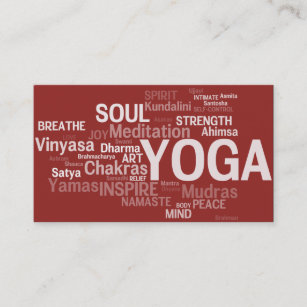 Certified yoga instructor business cards zazzle uk yoga instructor business card yoga words reheart Images