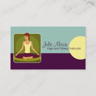 Md business cards zazzle uk yoga instructor business cards reheart Choice Image