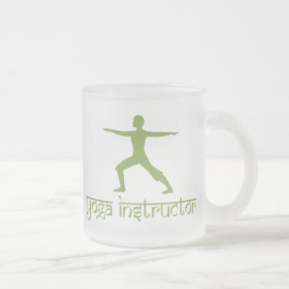 Yoga Instructor Frosted Glass Coffee Mug