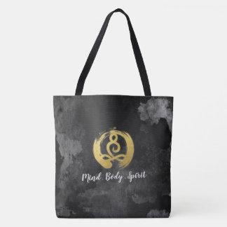 Yoga Instructor Gold Meditation Posture Zen Symbol Tote Bag