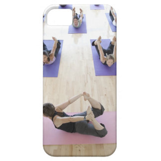 Yoga instructor leading class through the 2 iPhone 5 cover