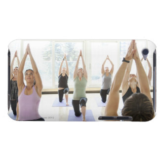 Yoga instructor leading class through the iPod touch cases
