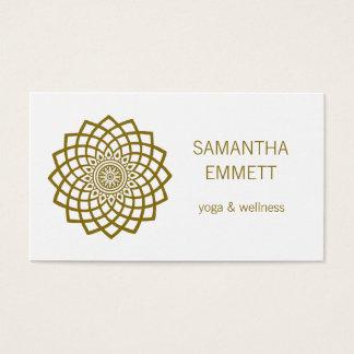 Yoga Instructor Minimalist Mandala Business Card