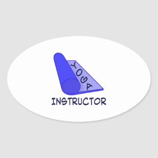 Yoga Instructor Oval Sticker