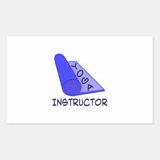 Yoga Instructor Rectangular Sticker