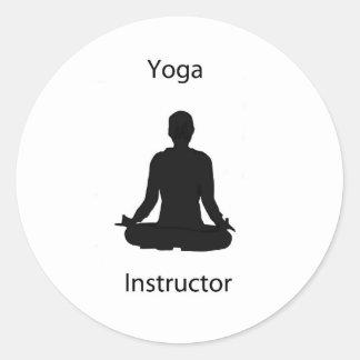 yoga instructor round sticker