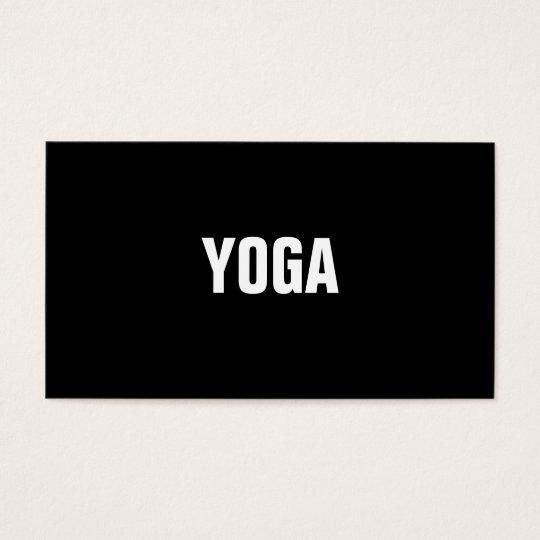 YOGA Instructor Simple & Plain Business Card