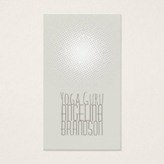 Yoga Instructor Simple Plain Lighted Gray Card