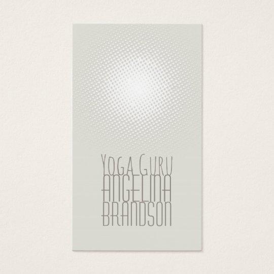 Yoga Instructor Simple Plain Lighted Grey Card