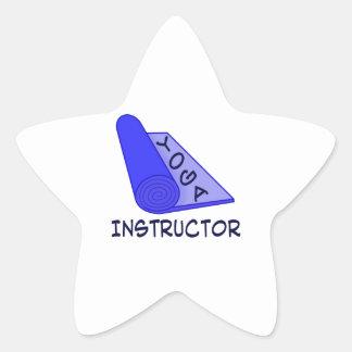 Yoga Instructor Star Sticker