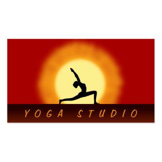 Yoga Instructor Sunrise Pose Standard Biz Cards Pack Of Standard Business Cards