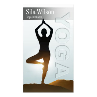 Yoga Instructor, Yoga Class Pack Of Standard Business Cards