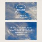 Yoga Instructor Zen   Blue Sky Clouds Relax Business Card