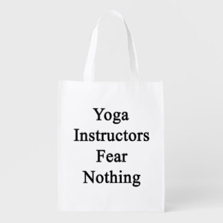 Yoga Instructors Fear Nothing Grocery Bags