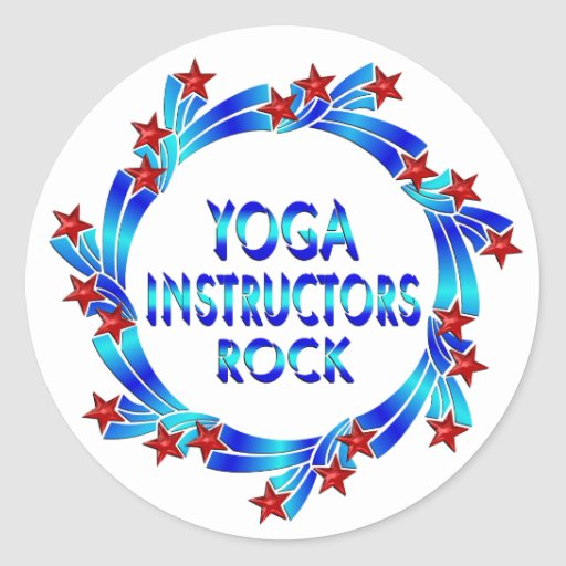 Yoga Instructors Rock Red Stars Stickers