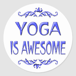 Yoga is Awesome Classic Round Sticker
