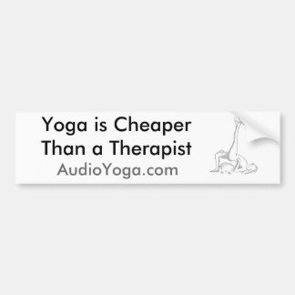 Yoga is car bumper sticker