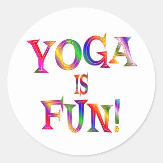 Yoga is Fun Classic Round Sticker