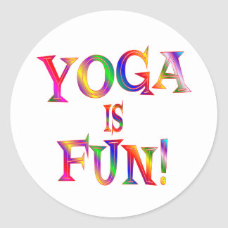 Yoga is Fun Round Sticker