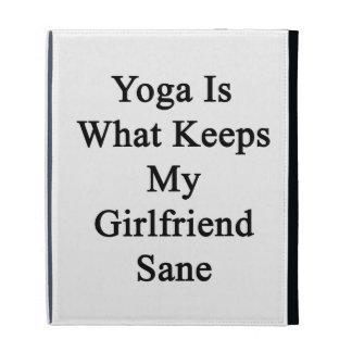 Yoga Is What Keeps My Girlfriend Sane iPad Folio Cases