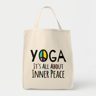 Yoga It's All About Inner Peace Grocery Tote Bag