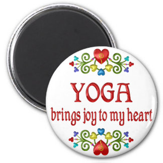 Yoga Joy 6 Cm Round Magnet