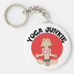 Yoga Junkie Gift Basic Round Button Key Ring