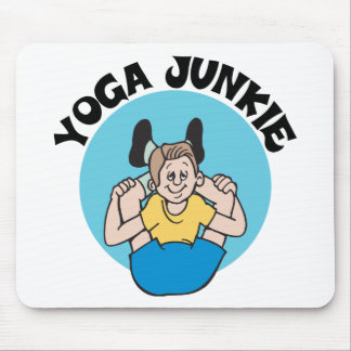 Yoga Junkie Men s Gift Mouse Pads