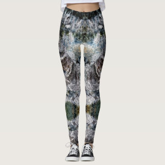 Yoga Leggings with Peaceful Motif of Nature