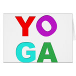 Yoga letters cards