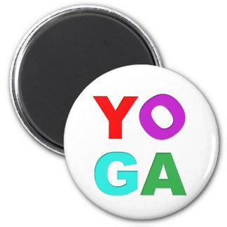 Yoga letters magnet