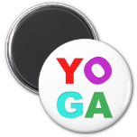 Yoga letters magnets