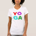 Yoga letters tee shirts