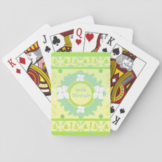 yoga lifestyle Classic Playing Cards
