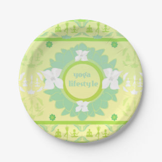 yoga lifestyle Paper Plate 7 Inch Paper Plate