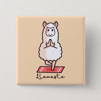 Yoga Llama - Llamaste 15 Cm Square Badge