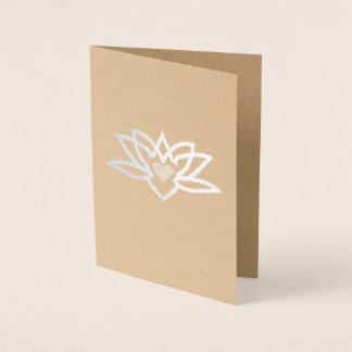 Yoga Lotus Heart Foil Foil Card