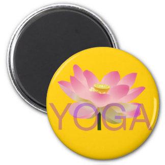 yoga lotus magnet