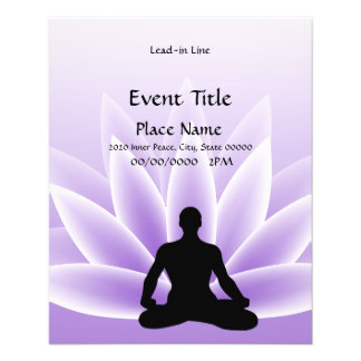 Yoga Lotus Man Violet Small Event Flyer