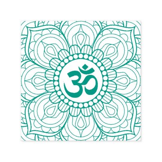 Yoga Lotus Mandala Om Symbol Namaste Self-inking Stamp