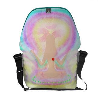 Yoga lotus pose Rickshaw Messenger Bag