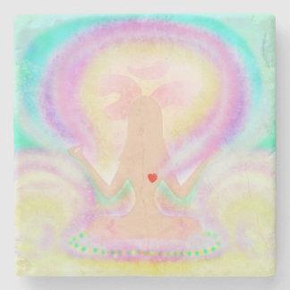 Yoga lotus pose. Stone Coaster