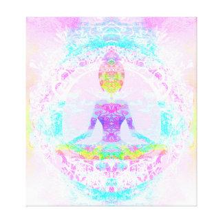 Yoga lotus pose. Stretched Canvas Print