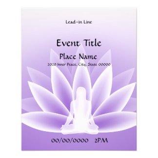 Yoga Lotus Violet Small Event Flyer