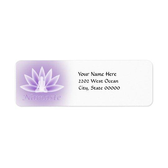 Yoga Lotus Woman Flower Violet Return Address Return Address Label