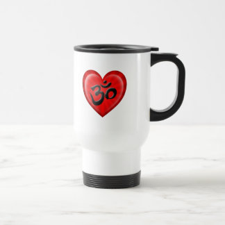 Yoga Love Heart Om Red and Black Coffee Mug