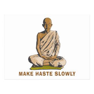 Yoga Make Haste Slowly Postcard